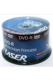 White Inkjet Printable DVD-R 50 Pack
