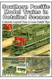 Southern Pacific Model Trains in Detailed Scenes
